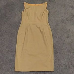 Tahari tan dress
